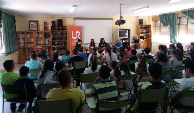 Momento de una de las sesiones del taller desarrollado en el colegio 'General Fresneda'