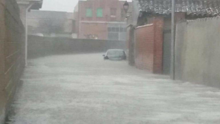 Impactante imagen de las inundaciones en Villarramiel (Palencia)