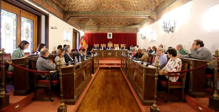Imagen de un pleno de la Diputación de Valladolid