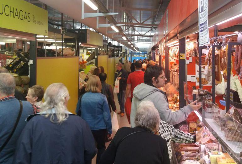 interior de Mercado Provisional, desde donde se ha emitido Hoy por Hoy Zaragoza