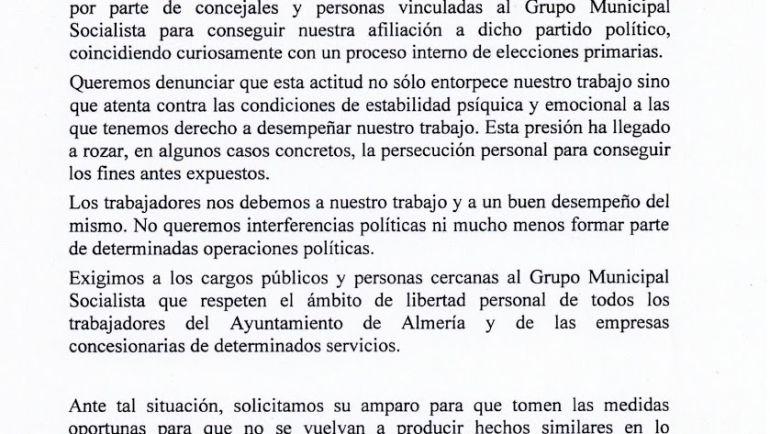 Sindicatos denuncian presiones del PSOE local para afiliarse.