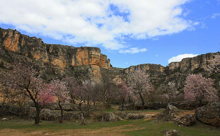 Hoz del río Trabaque en Albalate de las Nogueras (Cuenca).