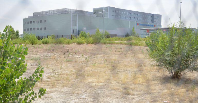 Parcela en la que se construirá un aparcamiento público en Sanse