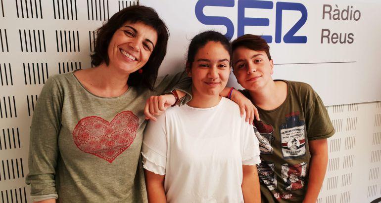 Núria Giménez, Marina Comes i Pau Fernández