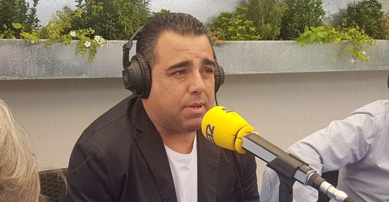 El técnico granadino Germán Crespo durante la tertulia de Radio Jaén Ser.