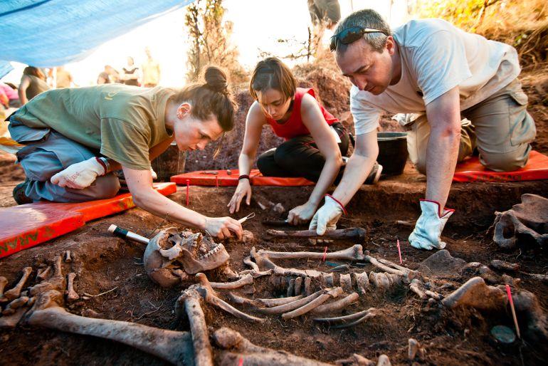 Trabajos de exhumación en Soria