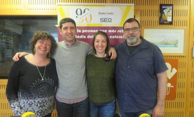 Mariló Maye, Álvaro Geneiro, Cristina López y Fernando Benítez, repescador en el Doctorado Honoris Cádiz