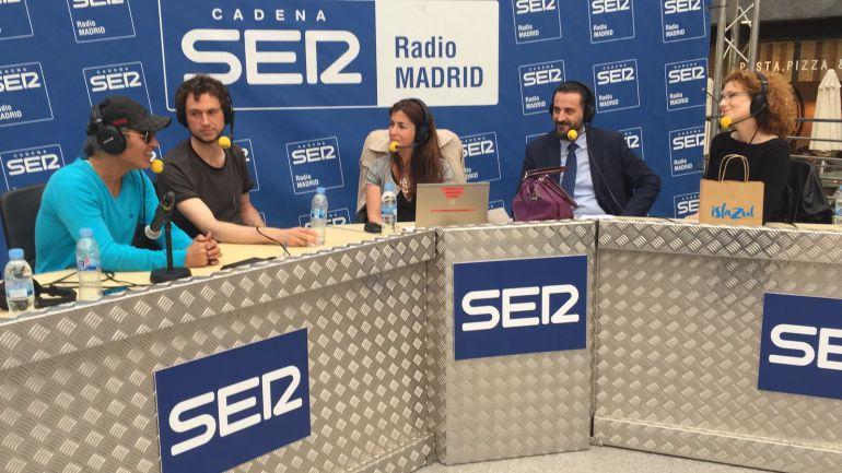Pitingo, Rodrigo Mercado, Marta González Novo, Florentino Fernández (Islazul) y la actriz Clara Sanchís.