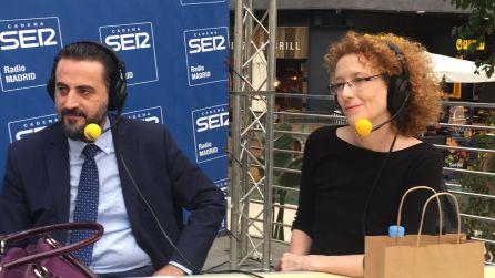Florentino Fernández, director de Islazul, y la actriz Clara Sanchís.