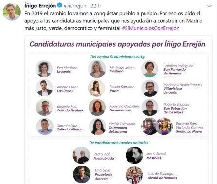 """La dirección de Podemos en Madrid """"sorprendida"""" y """"decepcionada"""" con Errejón"""