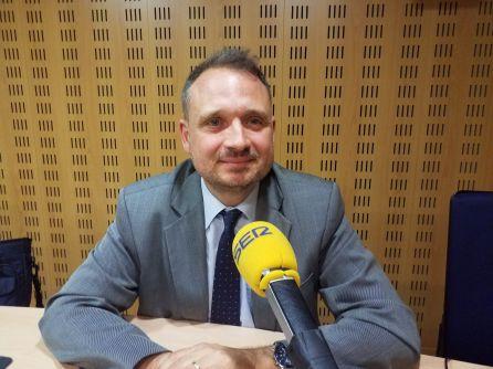 Ferran Camas, als estudis de Ràdio Girona