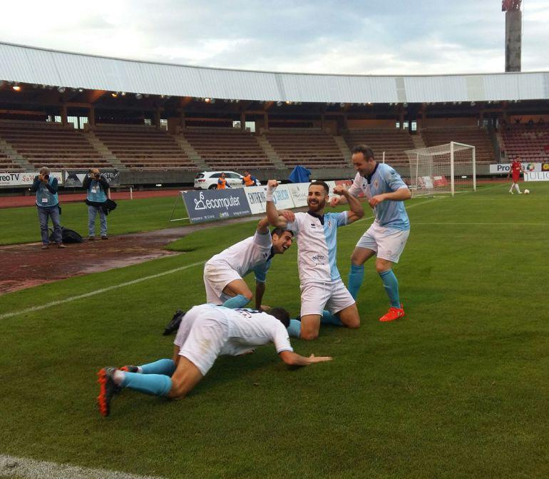 Celebración de los jugadores gallegos