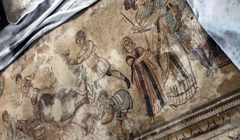 Paso adelante para poder abrir al público el mosaico romano de Noheda