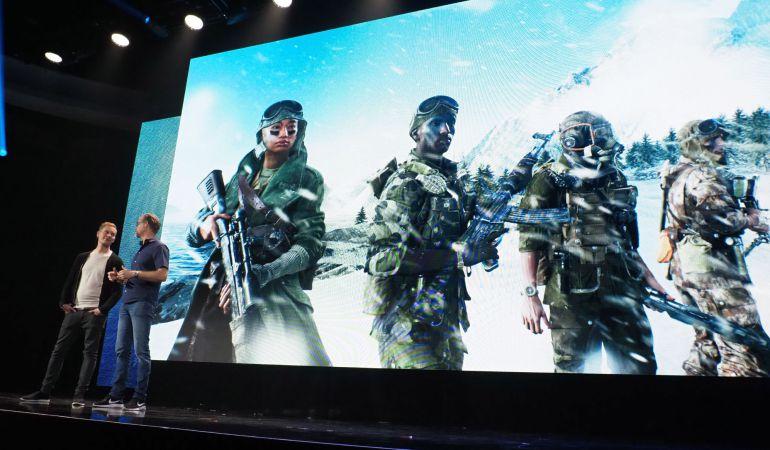 Uno de los momentos de la conferencia de EA