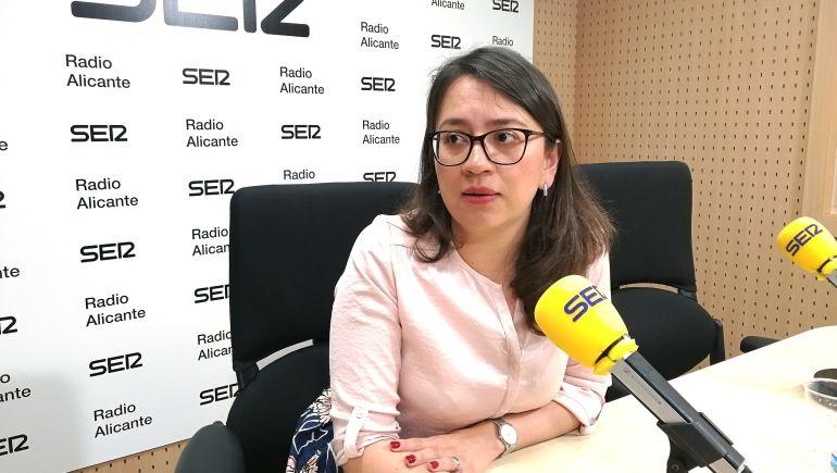 Yaneth Giraldo, portavoz del grupo de Ciudadanos en el Ayuntamiento de Alicante