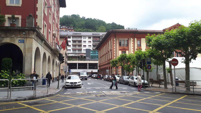 Detalle de la plaza de Unzaga de Eibar