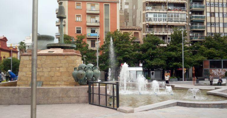 Fuente ornamental de la Plaza de la Constitución de Jaén capital.