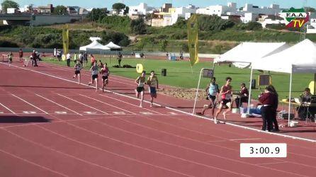 Adrián en la carrera de 1.500 metros celebrada este domingo en Cádiz