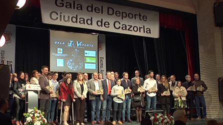Adrián fue uno de los deportistas que merecieron el reconocimiento a su trayectoria en la IV Gala del Deporte Ciudad de Cazorla