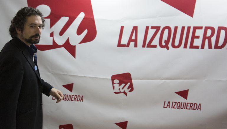 El portavoz de IU-Equo en las Cortes de Castilla y León, José Sarrión