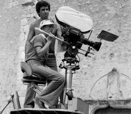 Pilar Miró durante el rodaje de 'El crimen de Cuenca'.