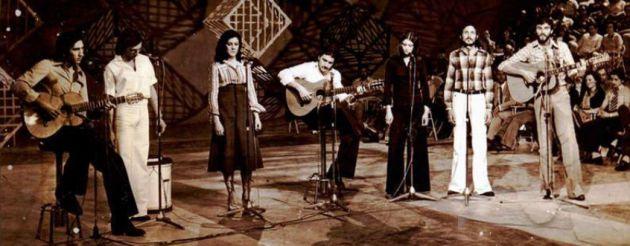 Actuación del grupo Jarcha en los años 70.