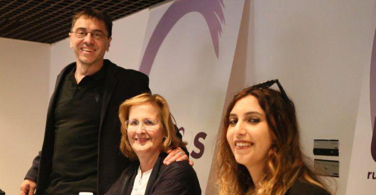 Juan Carlos Monedero en la presentación de la candidatura de Ángeles González