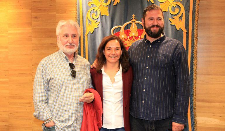Los 'Dos de las lealtad' con la alcaldesa de Getafe