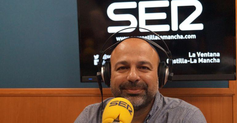 José García Molina, secretario regional de Podemos y vicepresidente segundo de la Junta, durante la entrevista en La Ventana de Castilla-La Mancha de este martes