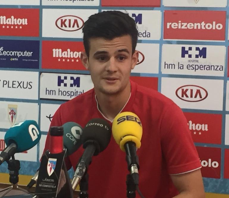 Rubén, durante su comparecencia ante los medios en la sala de prensa de San Lázaro