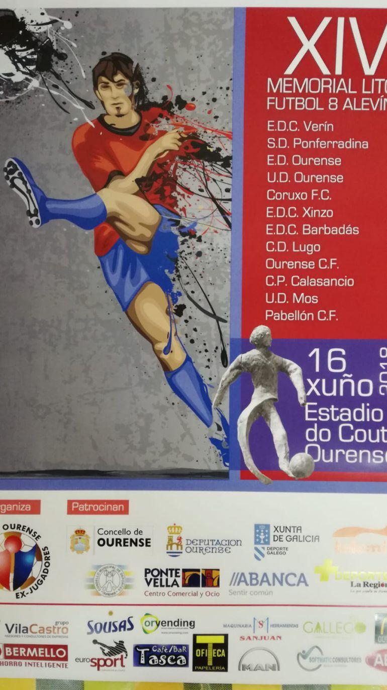 O próximo sábado día 16 de xunio, no campo do Couto, celebrarase a XIV edición do Memorial Lito de Fútbol 8 Alevín