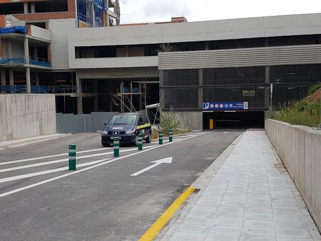 El nuevo aparcamiento del Hospital de Guadalajara podría abrir el viernes 22 de junio.: Viernes 22 de junio. Para ese día se prepara la apertura del aparcamiento del Hospital de Guadalajara