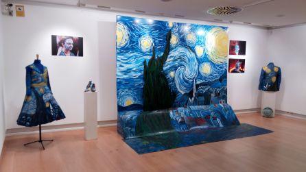 """""""Noche estrellada"""" de Van Gogh inspiró una parte de la instalación creativa"""