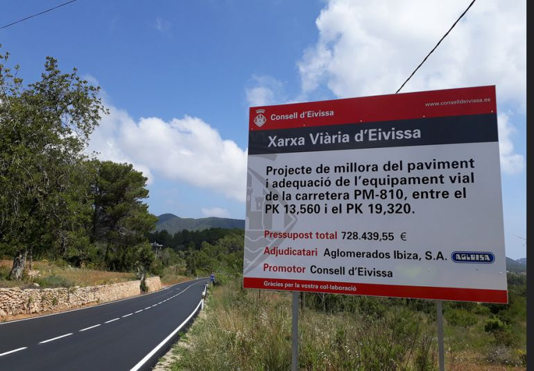 Dinero: El Consell de Ibiza quiere abrir la negociación del nuevo convenio de carreteras