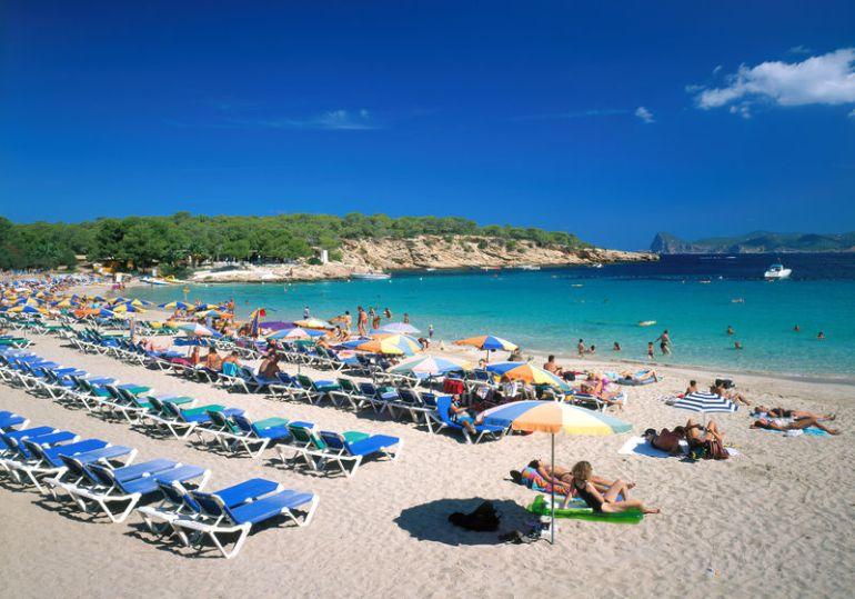 La playa de Cala Bassa