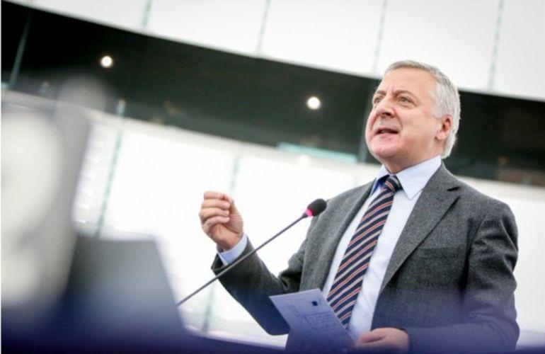 El eurodiputado José Blanco durante una intervención en el Europarlamento