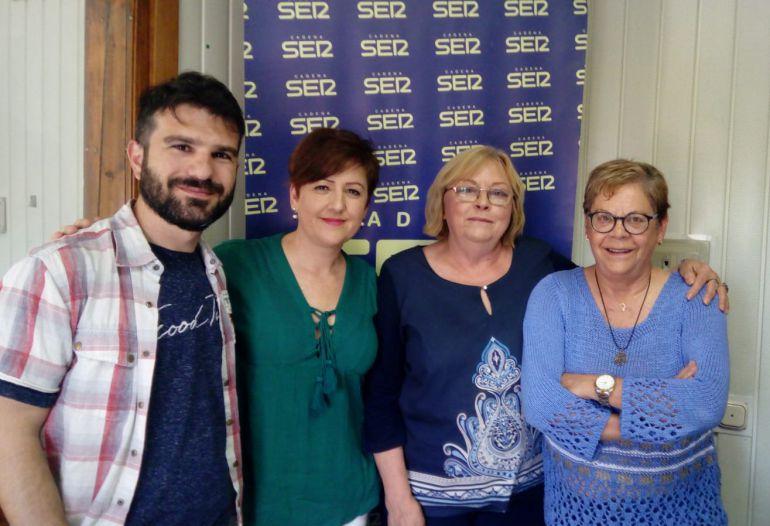 Juan José Patón, Ana Quijada, Juliana Catalán y Mercedes Rueda en la Tertulia de Igualdad. 14 de junio de 2018