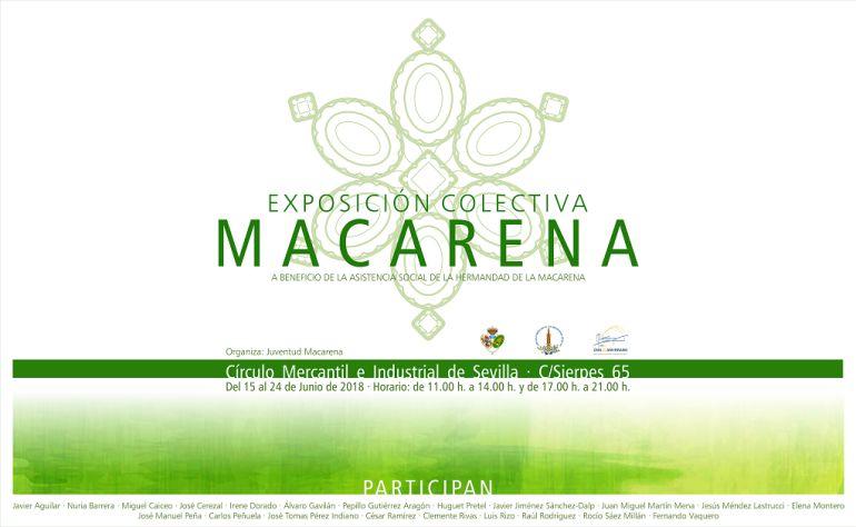 Cartel de la exposición colectiva que, dedicada a La Macarena, se podrá ver en el Círculo Mercantil