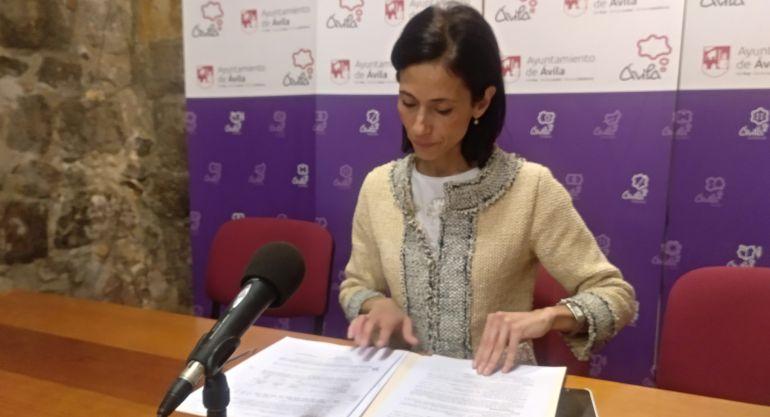Patricia Rodríguez, portavoz del Ayuntamiento de Ávila, comparece tras la Junta de Gobierno