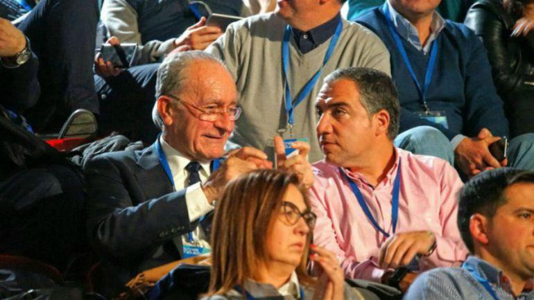 El alcalde de Málaga, Francisco de la Torre, y el presidente de la Diputación, Elías Bendodo, en una imagen de archivo