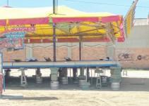 """Montaje """"chapucero"""" en las ferias de Segovia"""