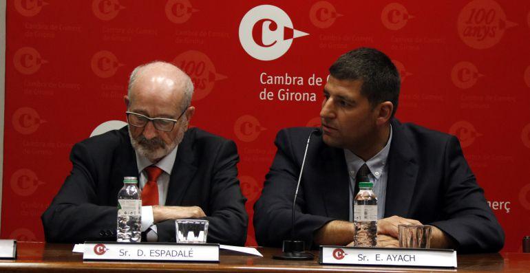 El president de la Cambra de Comerç (esquerre) i el de l'Asetrans.