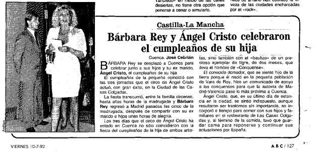 La visita de Curro Jiménez a Cuenca, el tigre de Ángel Cristo y el espía de la CIA