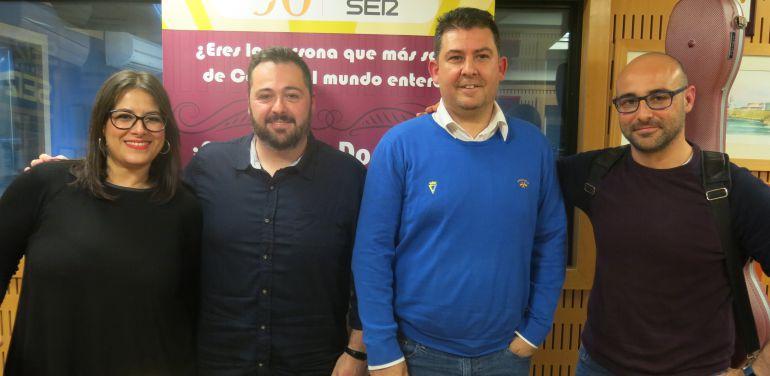 Milián Oneto, Diego Marchán, David Chinchilla y Sergio Carrillo en el segundo cuarto de final del Doctorado Honoris Cádiz