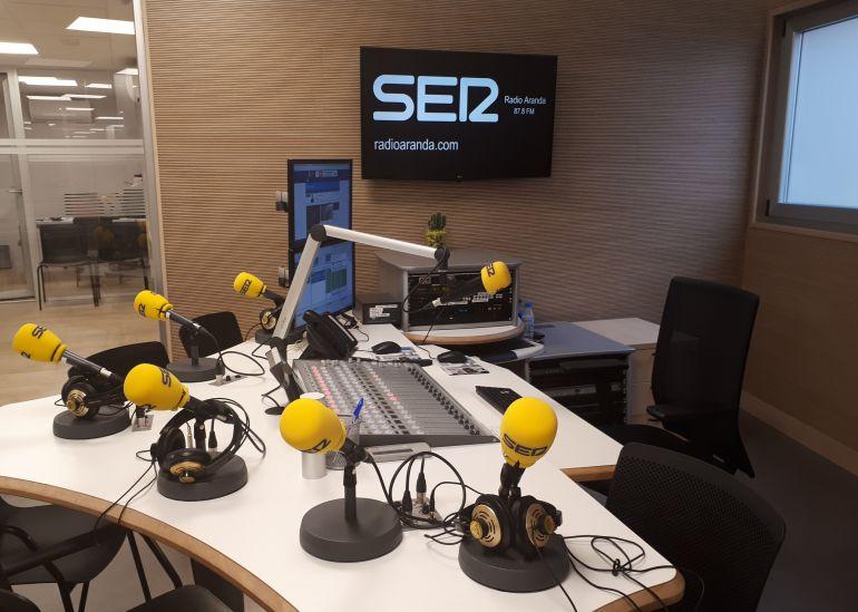 El estudio principal de Radio Aranda - Cadena SER.