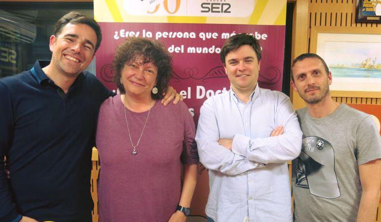 Daniel Obregón, Mariló Maye, Javier Caravaca y Pablo Gallardo en el Doctorado Honoris Cádiz