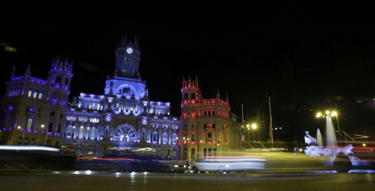 Palacio de Cibeles iluminado