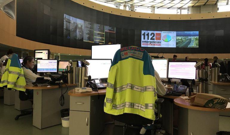 Centro de gestión de llamadas del 112 Comunidad de Madrid