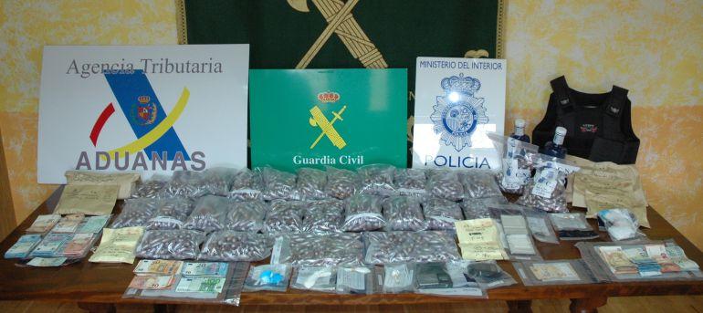 Los objetos incautados tras la detención