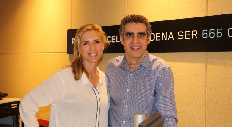 Judit Mascó i Manel Esteller, als estudis de Ràdio Barcelona